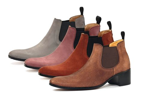boots grey simon fournier luxury heeled chelsea boots for