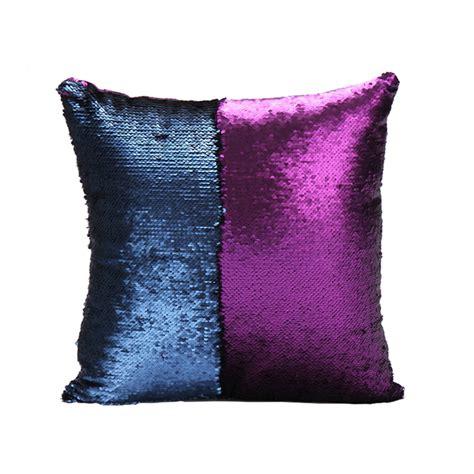 mermaid pillow cover purpledark blue change color sequins