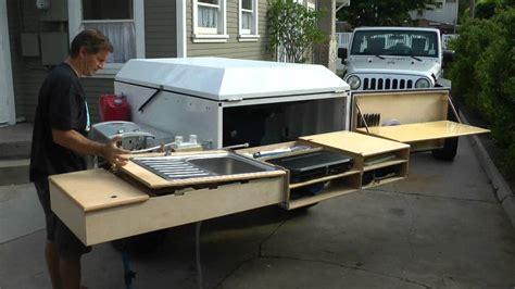 cer trailer kitchen ideas diy road cing trailer tent idea