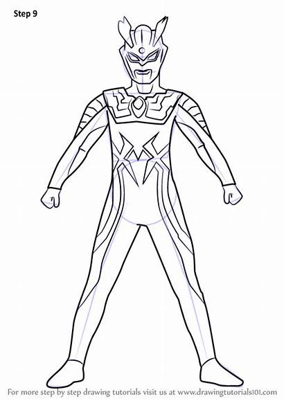 Ultraman Coloring Zero Drawing Pages Draw Printable