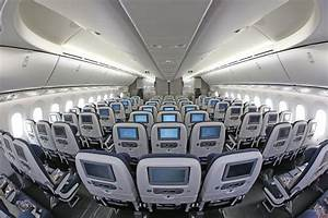 Interior of World Traveller Cabin, British Airways' 787 ...