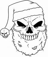 Skull Coloring Pages Printable Skulls Cool Christmas Draw sketch template
