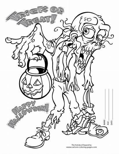 Scary Coloring Halloween Pages Adult Adults Mask