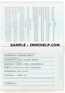 Sample Indian Passport