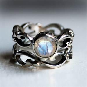 rainbow moonstone engagement ring With moonstone wedding ring