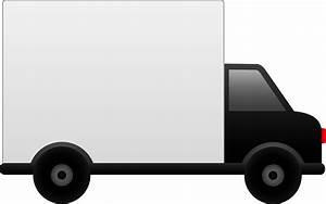 White Delivery Truck - Free Clip Art