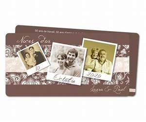 Faire Part Anniversaire 60 Ans : carte anniversaire de mariage 50 ans en pola planet ~ Edinachiropracticcenter.com Idées de Décoration
