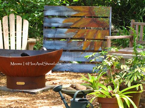 Hoe And Shovel Upcycled Wooden Pallet Garden Art
