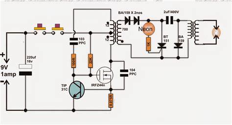 diy taser gun circuit stun gun circuit circuit projects