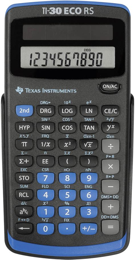 Texas Instruments TI-30 ECO RS CAS calculator Black ...