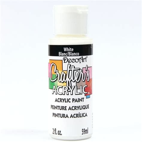crafters acrylic ml acrylic paint white dca