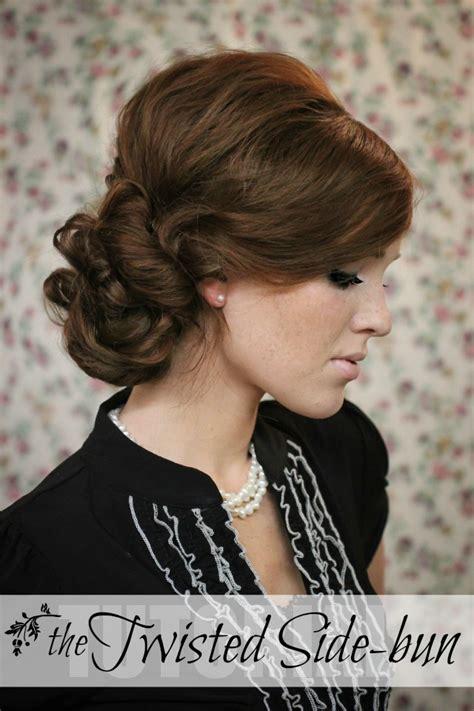 the freckled fox hair week tutorial 7 the twisted sidebun
