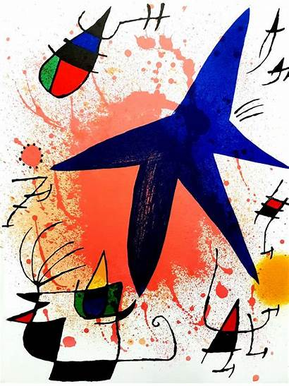 Miro Joan Abstract Lithograph Composition Philia Galerie