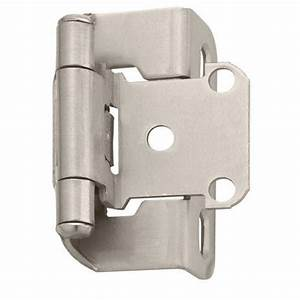 "Self Closing Partial Wrap Cabinet Hinge - 1/2"" Overlay ..."