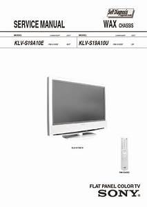 Sony Klv-s19a10  Klv-s23a10 Service Manual