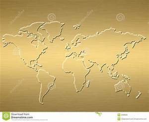 Carte Du Monde Metallique : carte du monde d 39 or photo stock image du m tallique carte 2399626 ~ Teatrodelosmanantiales.com Idées de Décoration