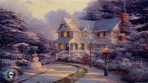 Thomas Kinkade Christmas Backgrounds - WallpaperSafari