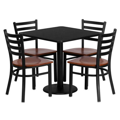 restaurant table chairs 30 black laminate with 4 ladder