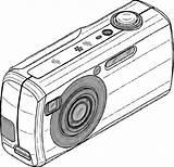 Camera Coloring Digital Polaroid Drawing Clipartmag sketch template