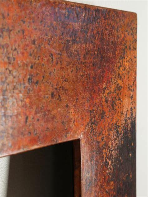 rustic rectangular copper mirror frame copper sinks