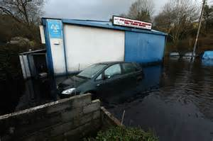 water in garage after heavy uk weather sees imogen bring 80mph winds and heavy