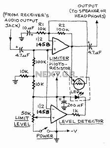U0026gt  Audio  U0026gt  Low Distortion Audio Limiter Circuit Diagram