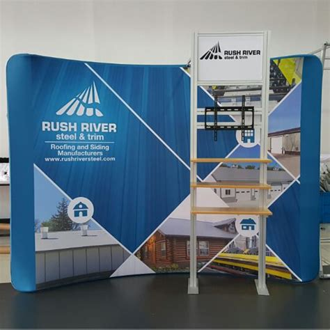 Backdrop For Display by 10ft Tension Fabric Tradeshow Displays Pop Up Stands