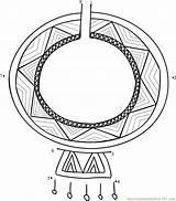 Maasai Necklace Wedding Dot Worksheet Connect Dots Kenya Printable sketch template