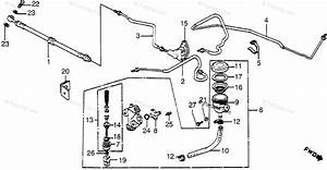 Honda Motorcycle 1983 Oem Parts Diagram For Rear Brake Master Cyl
