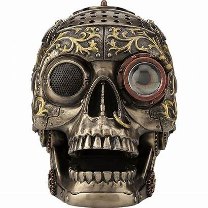 Steampunk Skull Aesthetics Headphone Stand Main Project