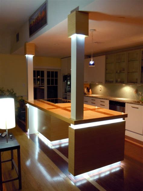 led kitchen island lighting contemporary kitchen st