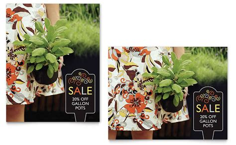garden plants sale poster template word publisher