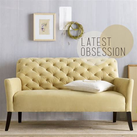 west elm settee obsession elton settee from west elm blush and jelly
