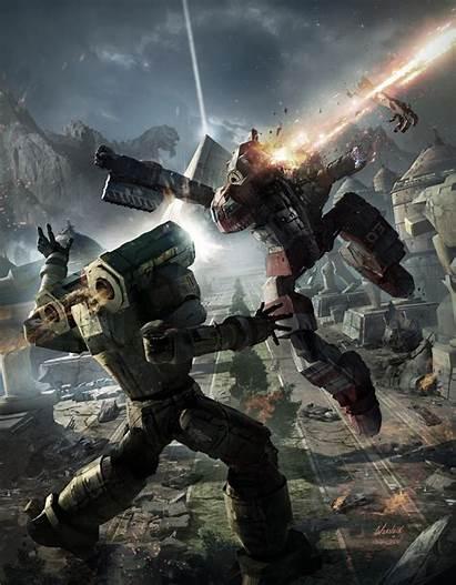 Sci Fi Battletech Concept Board Mech Digital