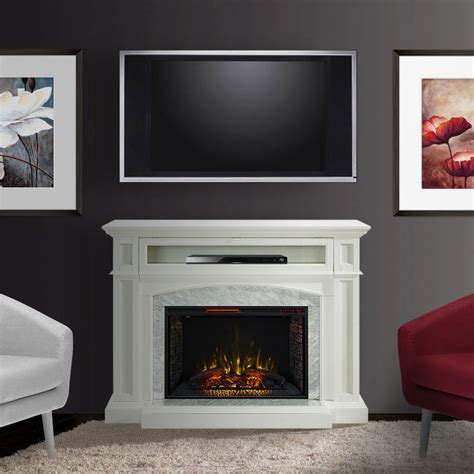 drew infrared electric fireplace tv stand  white cs
