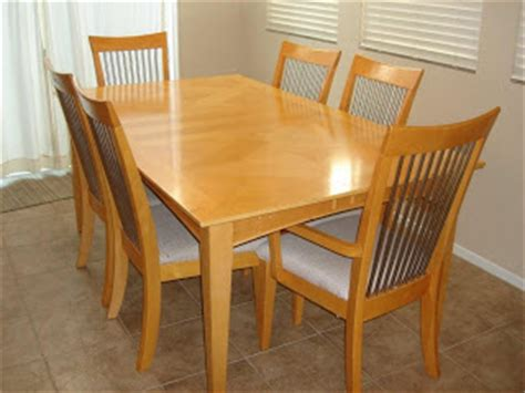 maple dining table set brooks moving sale maple dining room table set w 6