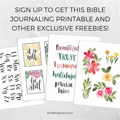 Bible Journaling Grace Scribbling Calligraphy Watercolor Lettering