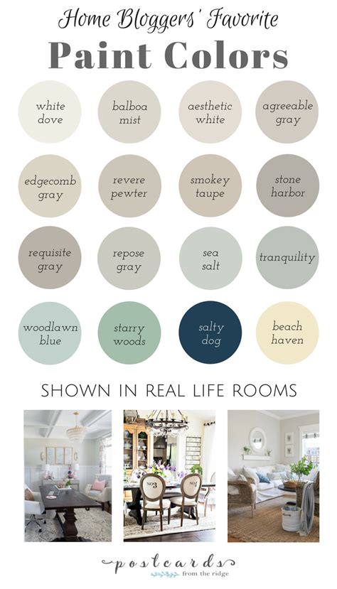16 popular paint colors from your favorite home bloggers
