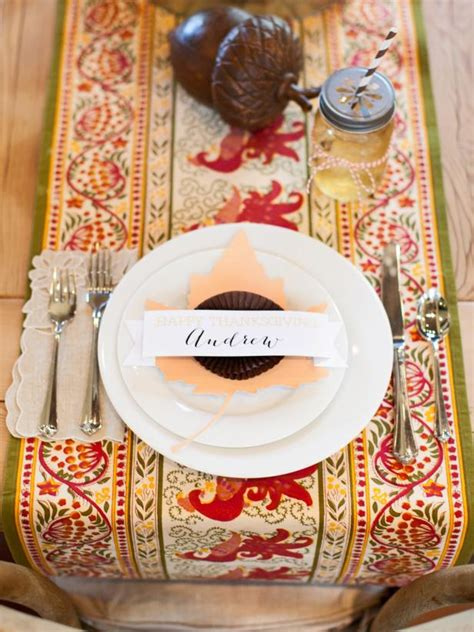 quick  easy thanksgiving place card hgtv