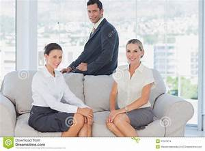 Business People Sitting On The Couch Stock Images - Image ...