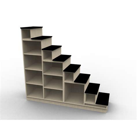 etagere angle cuisine escalier bibliothèque modèle venise pour mezzanine