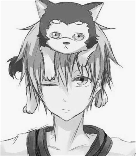 anime boy with cat anime boy cat kawaii cete image 4005410 by bobbym
