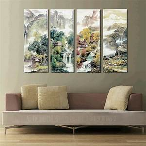 large 4 piece canvas art cheap modern wall panel decor 4 With inexpensive wall decor