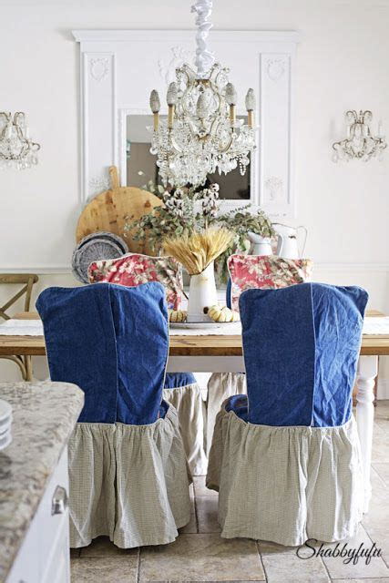 shabbyfufu chair covers chair slipcovers to change the look of a dining room chair slipcovers change and room