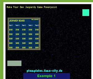 Make Your Own Jeopardy Game Powerpoint  Powerpoint