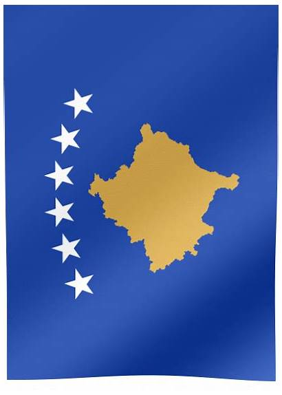 Kosovo Flag Waving Flags Prizren Country Animated