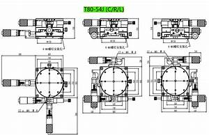 Cross Guide Manual Fine Tuning Platform Xy U0398 Precision