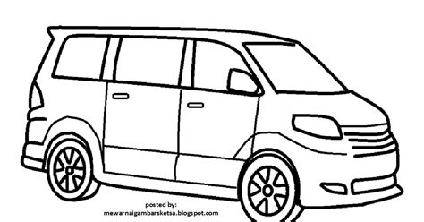 mewarnai gambar mobil sedan