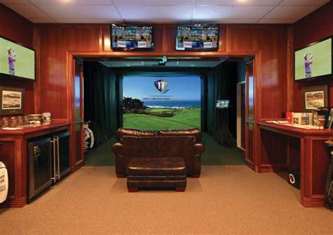 man cave  golfers traditional basement toronto