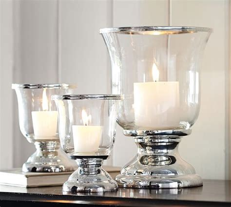 silver hurricane candle holders silver plated hurricane pottery barn